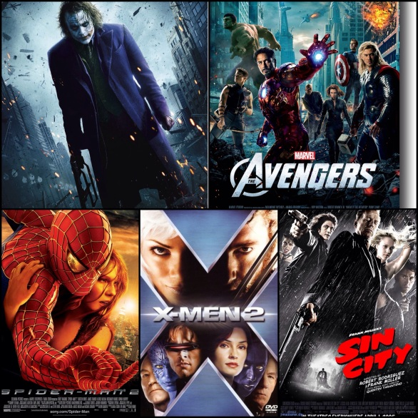 Some of the best comic book films (credit vixenvarsity.com)